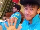 Neymar posta foto jogando vdeo game com Alexandre Pato