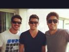 José Loreto brinca com Daniel Rocha e Bruno Gissoni: 'roubando na altura'