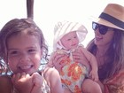 Jessica Alba se diverte com as filhas, na Itália: 'Animadas por estar aqui'