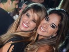 Bruno Gissoni, Fernanda Paes Leme e Mayra Cardi curtem baile funk no Rio