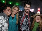 Ex-BBBs Adriana e Rodrigo vo a show de Luan Santana