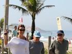 Luiza Brunet 'desfila' pela orla de Ipanema em manhã de exercícios