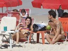 Deu praia! Em pleno inverno, famosos curtiram o fim de semana de sol à beira-mar