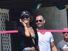 Careca, Rodrigo Santoro joga vôlei  com Alessandra Ambrósio