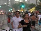 A uma semana do casamento, Marcelo Serrado corre com a noiva