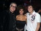 Aparecida Petrowky e Felipe Dylon vão a festa no Rio