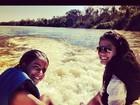 Antonia Morais posta foto com a irmã mais nova em passeio no rio Araguaia