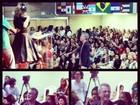 Pedro Bial participa do Culto das Princesas, das filhas de Baby do Brasil