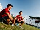 Filho de Taís Araújo em 'Cheias de Charme' quer ser jogador de futebol