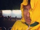 Rodrigo Faro acompanha as Olímpiadas e brinca com o frio de Londres