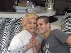 Hebe recebe visita de Pedro Leonardo: 'Ele está lindo de viver'