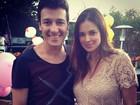Mulher de Rodrigo Faro leva as filhas ao aniversário do filho de Eliana
