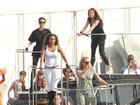 As Spice Girls ensaiam para a apresentação da final das Olimpíadas