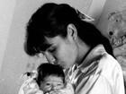 Luiza Brunet posta foto de quando Yasmin era recém-nascida