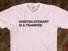 Traição de Kristen Stewart vira piada em estampas de camisetas