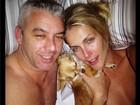 Ana Hickmann posta foto na cama com marido e sem maquiagem