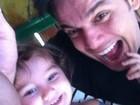 Otaviano Costa posa com Olívia, sua filha com Flávia Alessandra: 'Meu tudo'