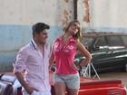 Vida de modelo: Daniel Rocha posa para campanha de roupas em Goiânia