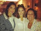Carol Celico posta foto com a mãe e a avó: 'Três gerações'