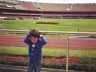 Filho de Kaká vai a estádio de time do coração do pai em São Paulo
