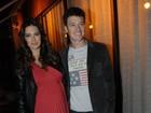 Rodrigo Faro vai a festa acompanhado da mulher grávida