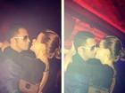 Após ser expulso de boate, Latino curte noite de Nova York e beija muito