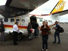 Daniele Valente dá 'graças a Deus' após viagem: 'Detesto avião pequeno'