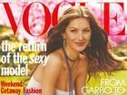 Gisele Bündchen divulga foto de capa de revista do início da carreira