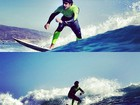 Caio Castro divulga fotos surfando