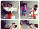 Xuxa se diverte com crianças portadoras da Síndrome de Down
