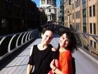 Regina e Gabriela Duarte visitam Londres