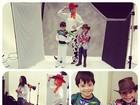 Xuxa se veste de personagens de 'Toy Story' e 'Piratas do Caribe'