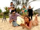 Caren Souza anda de tapa-sexo nos bastidores do Paparazzo