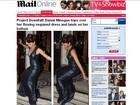 Ops! Dannii Minogue se atrapalha com vestido e leva tombo em evento