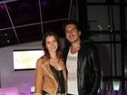 Nathalia Dill e Marcelo Serrado vão ao show de Marisa Monte, no Rio