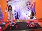 Filhas de Rodrigo Faro se divertem em evento infantil em São Paulo