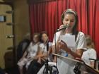 Mariana Rios e Rodrigo Lombardi ensaiam para show beneficente