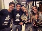 Rodrigo Simas festeja vitória na 'Dança dos Famosos' ao lado do irmão