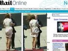 Kate Middleton passa por saia justa com vestido por causa do vento