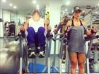 Sabrina Sato malha pesado na academia