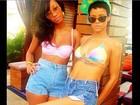 Rihanna posta foto de biquíni e shortinho em rede social