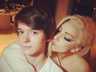 Lady Gaga posta foto com jovem músico francês: 'Meu pequeno gênio'