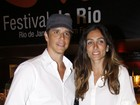 Márcio Garcia e a mulher vão a sessão especial de filme