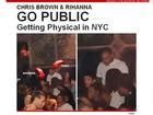 Site mostra Chris Brown e Rihanna juntos em boate