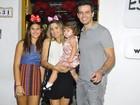 Famosos levam filhos para festinha da caçula de Flávia Alessandra
