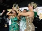 Viviane Araújo é coroada rainha de bateria da Mancha Verde