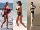 Verão retrô: famosas aderem ao biquíni estilo 'hot pant'