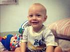 Neymar publica foto do filho sorrindo e se declara: 'Papai te ama!'
