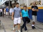 Gente como a gente: lutador Lyoto Machida passeia com a namorada