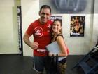Fernanda Paes Leme tieta o lutador Minotouro